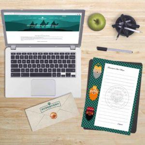 Escritori amb la web per descarregar la carta dels reis